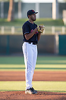AZL Indians 1 starting pitcher Raymond Burgos (46) during an Arizona League game against the AZL White Sox at Goodyear Ballpark on June 20, 2018 in Goodyear, Arizona. AZL Indians 1 defeated AZL White Sox 8-7. (Zachary Lucy/Four Seam Images)