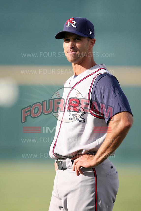June 2, 2009: Jason Smith (31) of the Round Rock Express at Rosenblatt Stadium in Omaha, NE.  Photo by: Chris Proctor/Four Seam Images