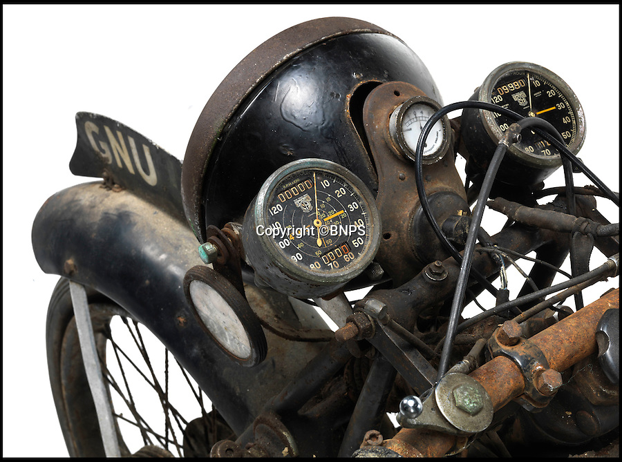 BNPS.co.uk (01202 558833)<br /> Pic: Bonhams/BNPS<br /> <br /> Yours for £200,000  - barn find bike needs £50,000 of repairs, and you'll still have to pump up the tyres.<br /> <br /> This bike has been dubbed the 'Holy Grail' of vintage motorbikes - the extremely rare Vincent-HRD Series-A Rapide has emerged for auction after sitting unused for 54 years.<br /> <br /> Just 50 remain of this sought after pre-war model - and this one was unusually made to the same high-speed specifications as the Manx TT version. <br /> <br /> Bonhams Stafford Sale - April 24th.