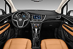 Stock photo of straight dashboard view of 2018 Buick Encore Premium 5 Door SUV Dashboard
