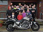 Some of the bikers who took part in the annual bike run in aid of St. Ita's school. Photo: Colin Bell/pressphotos.ie
