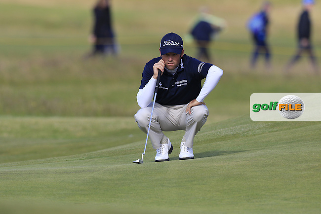 Robert Streb (USA) on the 15th green during Sunday's Round 3 of the 144th Open Championship, St Andrews Old Course, St Andrews, Fife, Scotland. 19/07/2015.<br /> Picture Eoin Clarke, www.golffile.ie