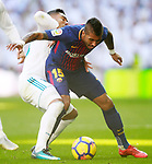 Real Madrid's Carlos Henrique Casemiro (l) and FC Barcelona's Paulinho during La Liga match.December 23,2017. (ALTERPHOTOS/Acero)