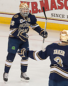 T.J. Tynan (ND - 18) - The Boston College Eagles defeated the visiting University of Notre Dame Fighting Irish 4-2 to tie their Hockey East quarterfinal matchup at one game each on Saturday, March 15, 2014, at Kelley Rink in Conte Forum in Chestnut Hill, Massachusetts.