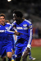 Kei Kamara celebrates his opening goal...Kansas City Wizards defeated Colorado Rapids 1-0 at Community America Ballpark, Kansas City,Kansas.