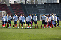 Zürich, Switzerland - Monday, March 23, 2015: The USMNT Train in preparation for their friendly match versus Switzerland at Stadion Letzigrund.