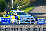 The scene of the fatal car accident on the Abbeydorney to Ardfert road on Monday.