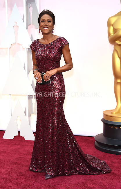 WWW.ACEPIXS.COM<br /> <br /> February 22 2015, LA<br /> <br /> Robin Roberts arriving at the 87th Annual Academy Awards at the Hollywood &amp; Highland Center on February 22, 2015 in Hollywood, California.<br /> <br /> By Line: Z15/ACE Pictures<br /> <br /> <br /> ACE Pictures, Inc.<br /> tel: 646 769 0430<br /> Email: info@acepixs.com<br /> www.acepixs.com