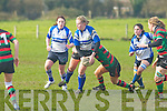 Tralee's Mary Leen in action against Highfield at O'Dowd park, Tralee on Sunday.