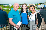 Enjoying the Dingle Races at Ballintaggart Racecourse on Saturday were l-r  Niall Horgan, Tralee, Saoirse Horgan, Tralee and Kate Horgan, Tralee