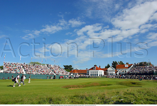 General View of the 18th green, The Open Championship, Muirfield, Scotland, 020721. Photo:Glyn Kirk/Action Plus...Golf.2002.greens