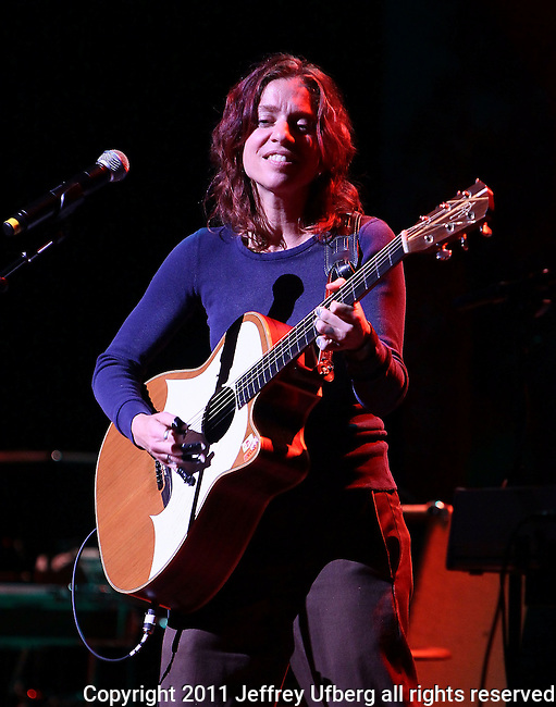 "May 27, 2011 New York: Singer / Songwriter Ani DiFranco peforms ""Wavy Gravy's 75th Birthday"" at the Beacon Theatre on May 27, 2011 in New York."