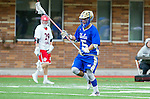 Orange, CA 03-05-17 - Zach Muduryan (UCLA #5) in action during the UCLA - Champman Southern Lacrosse Conference MCLA Division 1 Men's Lacrosse game.