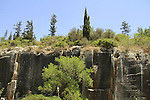 Israel, ancient quarry at Mount Horshan