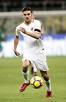 Calcio, Serie A: Inter - Roma, Milano, stadio Giuseppe Meazza (San Siro), 21 gennaio 2018.<br /> Roma's Lorenzo Pellegrini in action during the Italian Serie A football match between Inter Milan and AS Roma at Giuseppe Meazza (San Siro) stadium, January 21, 2018.<br /> UPDATE IMAGES PRESS/Isabella Bonotto