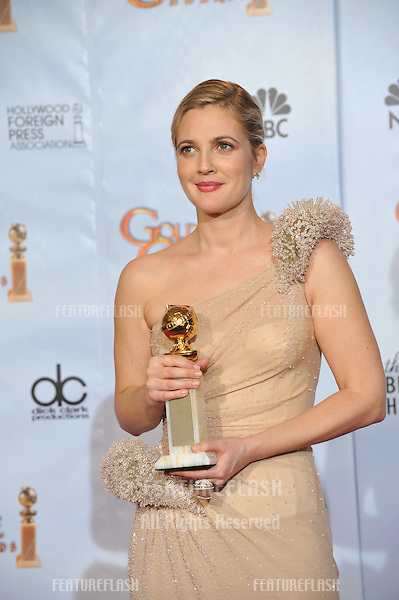 Drew Barrymore at the 67th Golden Globe Awards at the Beverly Hilton Hotel..January 17, 2010  Beverly Hills, CA.Picture: Paul Smith / Featureflash