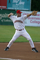 August 22, 2003:  Scott Dierks of the Jamestown Jammers during a game at Russell Diethrik Park in Jamestown, New York.  Photo by:  Mike Janes/Four Seam Images