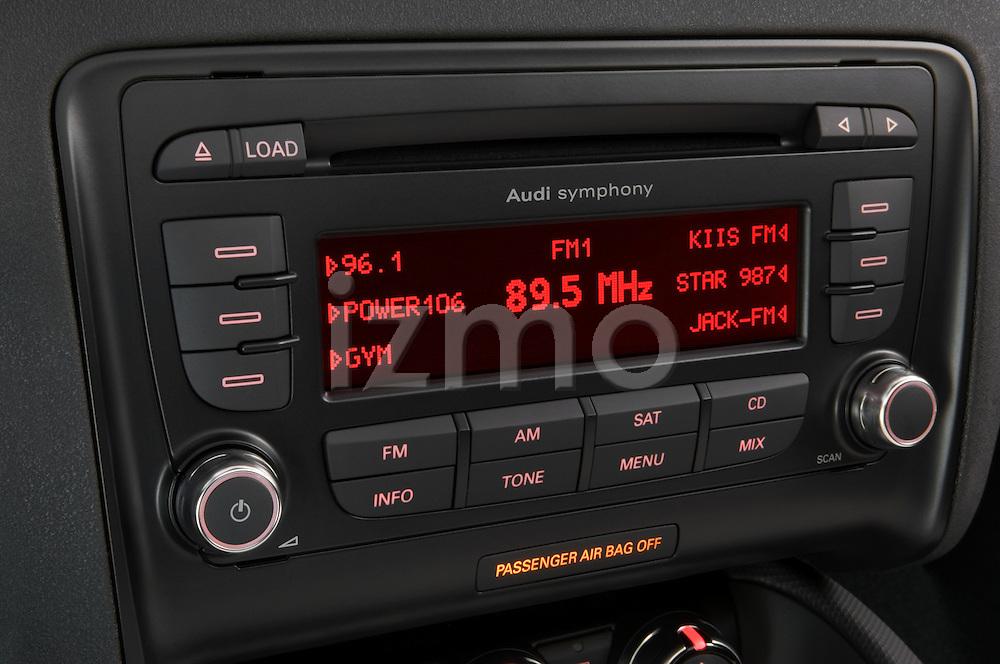 Audio system close up deatil of a 2007 - 2010 Audi TT Roadster