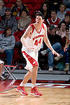 MADISON, WI - OCTOBER 24: Center J.P. Gavinski #44 of the Wisconsin Badgers plays defense during the red/white scrimmage at the Kohl Center on October 24, 2006 in Madison, Wisconsin. The White team defeated the Red team 72-69. (Photo by David Stluka)
