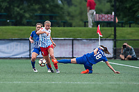 Boston, MA - Friday July 07, 2017: Alyssa Mautz and Tiffany Weimer during a regular season National Women's Soccer League (NWSL) match between the Boston Breakers and the Chicago Red Stars at Jordan Field.