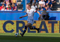 PARIS,  - JUNE 16: Becky Sauerbrunn #4 passes the ball during a game between Chile and USWNT at Parc des Princes on June 16, 2019 in Paris, France.