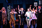 "Angie Schworer, Beth Leavel, Caitlin Kinnunen, Brooks Ashmanskas, Christopher Sieber during the Broadway Opening Night Curtain Call of ""The Prom"" at The Longacre Theatre on November 15, 2018 in New York City."