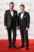 Ant McPartlin and Declan Donnelly<br /> at the 2016 BAFTA TV Awards, Royal Festival Hall, London<br /> <br /> <br /> &copy;Ash Knotek  D3115 8/05/2016