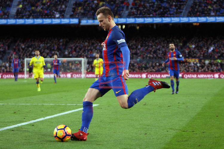 League Santander 2016/2017. Game: 18.<br /> FC Barcelona vs UD Las Palmas: 5-0.<br /> Ivan Rakitic.