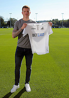 Pictured: Alfie Mawson at the Swansea City FC Academy training ground in Landore, Wales, UK.<br />Re: Swansea City have agreed an undisclosed fee for Barnsley defender Alfie Mawson, who is set to hold talks over personal terms with the Premier League side.