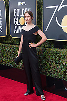 Alice Englert arrives at the 75th Annual Golden Globes Awards at the Beverly Hilton in Beverly Hills, CA on Sunday, January 7, 2018.<br /> *Editorial Use Only*<br /> CAP/PLF/HFPA<br /> &copy;HFPA/Capital Pictures