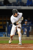 Vanderbilt Commodores catcher Karl Ellison (25) squares to bunt during a game against the Indiana State Sycamores on February 20, 2015 at Charlotte Sports Park in Port Charlotte, Florida.  Vanderbilt defeated Indiana State 3-2.  (Mike Janes/Four Seam Images)