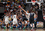 01 APRIL 2012:  Brittany Griner (42) of Baylor University blocks the shot of Amber Orrange (33) of Stanford University during the Division I Women's Final Four semifinals at the Pepsi Center in Denver, CO.  Baylor defeated Stanford 59-47 to advance to the championship final.  Jamie Schwaberow/NCAA Photos