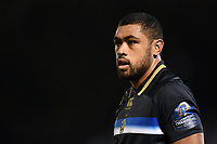 Taulupe Faletau of Bath Rugby looks on. European Rugby Champions Cup match, between Bath Rugby and Benetton Rugby on October 14, 2017 at the Recreation Ground in Bath, England. Photo by: Patrick Khachfe / Onside Images