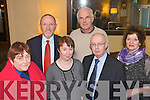 Pictured Guideance Counsellers annual Lunch at the Brandon Hotel were Blathin Ni Bhric, Billy Ryle, Betty Farrell, John Murphy, Dermot Twomey and Julie Shanahan .