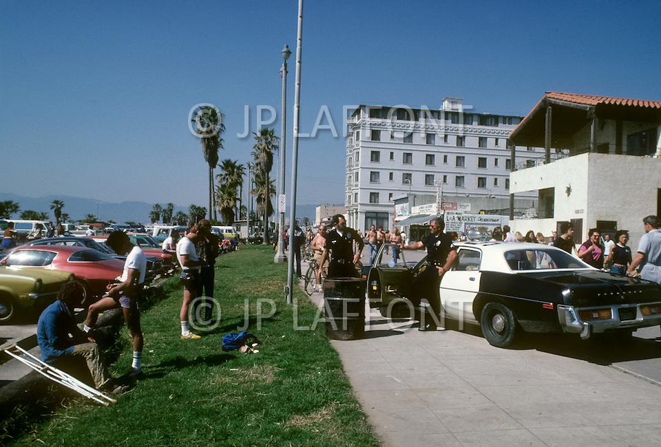 Venice Beach, California, U.S.A, March, 1980. Everyday life scenes in Venice Beach.