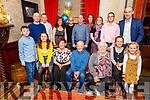 Dan O'Shea from Kilflynn celebrating his 70th birthday in the Grand Hotel on Saturday.<br /> Seated l to r: Ava Lenihan, Lorna, Dan, Nora, Katie and Emma O'Shea.