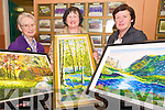 Assumpta O'Shea, Killarney, Margaret McCurtain, Milltown and Margaret Doherty, Aghadoe pictured at the Killarney Community College KES art exhibition on Thursday night.