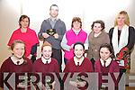 St Josephs NS Cahersiveen winners of the U13's section of the Cahersiveen Credit Union's Primary Schools quiz held at the Foilmore Community Centre on Sunday last were front l-r; Ciara Quigley, Gráine Donegan, Dervla Donegan, Lee Coffey, back l-r; Susan Daly(teacher), Joe Moore(teacher), Saskia Donegan, Mary Sugrue(Principal) & Kathleen O'Sullivan(Cahersiveen Credit Union.