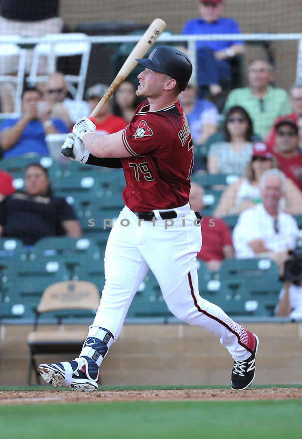 Arizona Diamondbacks Zach Borenstein (79) during a preseason game against the Arizona Wildcats on March 1, 2016 at Salt River Fields at Talking Stick in Scottsdale, AZ. The Diamondbacks beat the Wildcats 5-12..