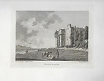Engravings of Scottish landscapes and buildings from late eighteenth and early nineteenth century, Elcho Castle, Perth, Scotland, 1789