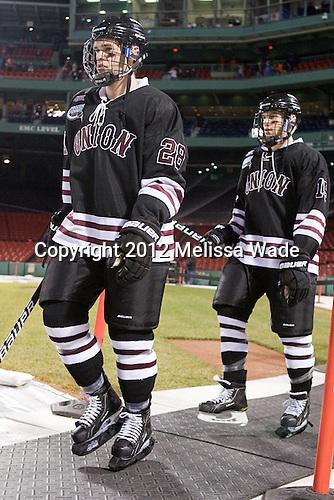 Shawn Stuart (Union - 28), Matt Hatch (Union - 15) - The Union College Dutchmen defeated the Harvard University Crimson 2-0 on Friday, January 13, 2011, at Fenway Park in Boston, Massachusetts.
