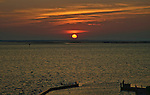 Sunset over the Currituck Sound, seen from the west side of the Outer Banks