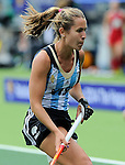 The Hague, Netherlands, June 14: Daniela Sruoga #18 of Argentina in action during the field hockey bronze medal match (Women) between USA and Argentina on June 14, 2014 during the World Cup 2014 at Kyocera Stadium in The Hague, Netherlands. Final score 2-1 (2-1)  (Photo by Dirk Markgraf / www.265-images.com) *** Local caption ***