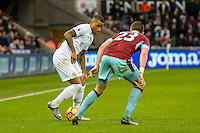 Saturday 04 March 2017<br />Pictured: Luciano Narsingh Swansea City in action Re: Swansea City v Burnley, Premier League Match at the Liberty Stadium Swansea, Wales, UK