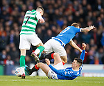 08.11.2019 League Cup Final, Rangers v Celtic: Ryan Jack tackles Ryan Christie