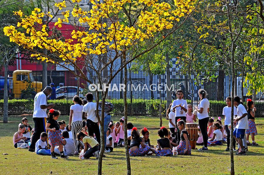 Crianças escolares no Parque da Juventude. Sao Paulo. 2014. Foto de Marcia Minillo.