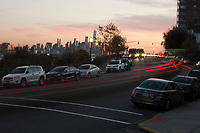 WEEHAWKEN NJ - NOVEMBER 17: Vehicles move along the Boulevard East on November 17, 2017 in New Jersey. United States still contributting to the global greenhouse gas emissions as the Trump Administration have dismantled the U.S. foreign-policy to reduce carbon pollution, political divisions in the United States over climate change spilled over to the outside world has been seen at the COP23 United Nations Climate Change Conference that ends today in Bonn, Germany (Photo by Kena Betancur/VIEWpress/Corbis via Getty Images)
