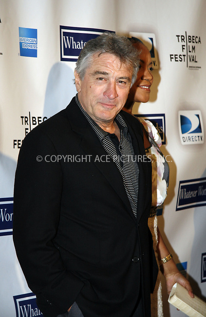WWW.ACEPIXS.COM . . . . . ....April 22 2009, New York City....Robert De Niro arriving at the premiere of 'Whatever Works' during the 2009 Tribeca Film Festival at Ziegfeld on April 22, 2009 in New York City.....Please byline: NANCY RIVERA - ACEPIXS.COM.. . . . . . ..Ace Pictures, Inc:  ..tel: (212) 243 8787 or (646) 769 0430..e-mail: info@acepixs.com..web: http://www.acepixs.com