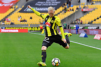 Wellington Phoenix&rsquo; Adam Parkhouse in action during the A League - Wellington Phoenix v Melbourne Victory FC at Westpac Stadium, Wellington, New Zealand on Sunday 3 December.<br /> Photo by Masanori Udagawa. <br /> www.photowellington.photoshelter.com