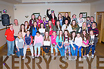 KERINS O'RAHILLYS LADIES: The Kerins O'Rahilly's U12's U14's & U16's ladies enjoying their awards ceremony at the Strand Road clubhouse, Tralee on Sunday.
